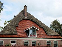 farm house in the netherlands near alkmaar the combination of thatch and roof tiles is quite common in that area - Thatched Rood