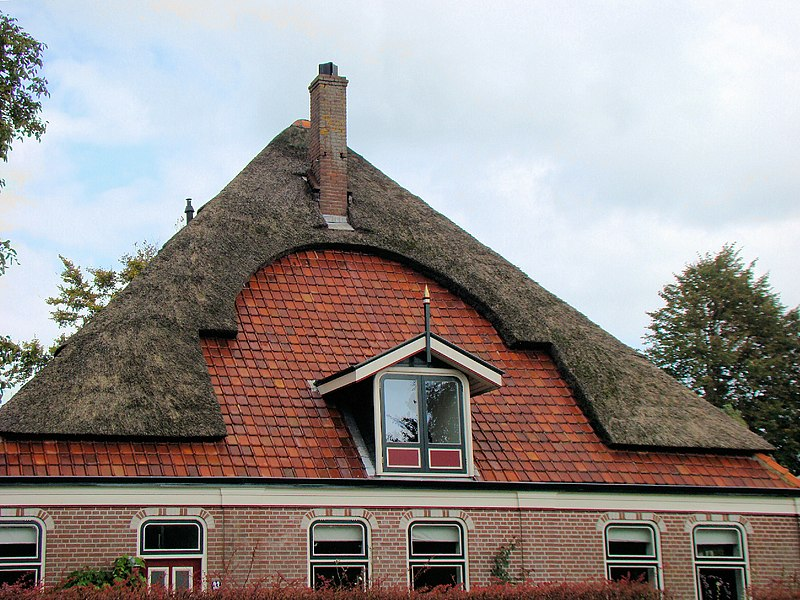 File:Partially thatched roof.jpg