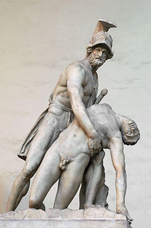 Il Gruppo di Pasquino, (Patroclo e Menelao), 1599, Loggia dei Lanzi, Piazza della Signoria, Firenze