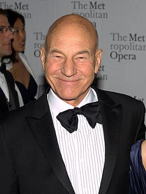 Patrick Stewart - Stewart at the 2010 Metropolitan Opera's opening night of Das Rheingold