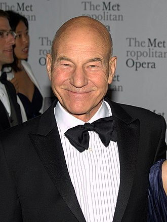 Patrick Stewart - Stewart at the 2010 Metropolitan Opera's opening night of Das Rheingold