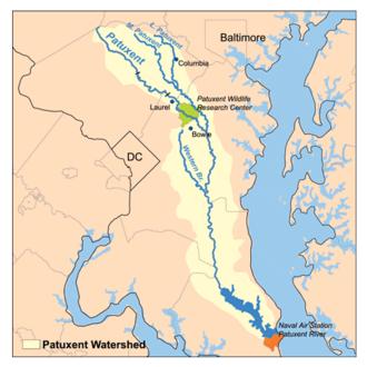 Patuxent River - Image: Patuxentrivermap