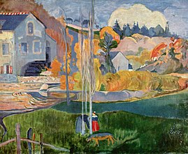 Watermill in Pont-Aven, by Paul Gauguin, 1894