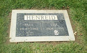 Paul Henreid - Paul Henreid's grave at Woodlawn Cemetery in Santa Monica