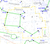 Pegasus constellation map