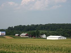 A farm just off Interstate 83 in Shrewsbury Township