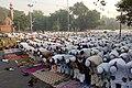 People offering Namaz on the occasion of Id-ul-Fitr on Netaji Subhash Chandra Bose Road, Daryaganj, Delhi on October 24, 2006.jpg