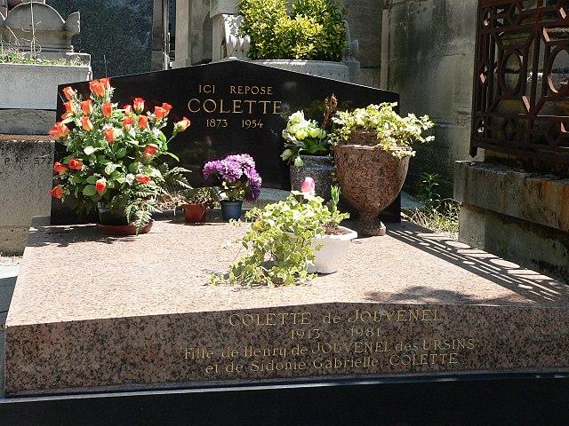 Могила Колетт на кладбище Пер-Лашез