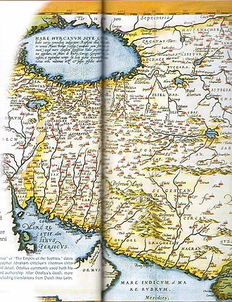 Abraham Ortelius - Map of the Persian Empire from the Theatrum Orbis Terrarum