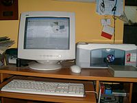 One of the technological advancements that is commonly used by the generation today is a computer.