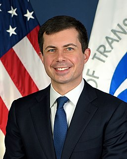 Pete Buttigieg 19th United States secretary of transportation and former Mayor of South Bend, Indiana