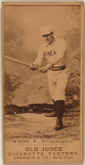 Pete Wood - Image: Pete Wood baseball card