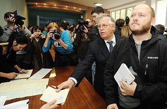 Communist Party of Ukraine - Symonenko during Ukrainian parliamentary election, 2012.