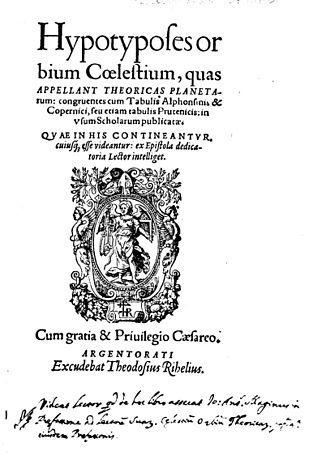 Caspar Peucer - Hypotyposes orbium coelestium, 1568