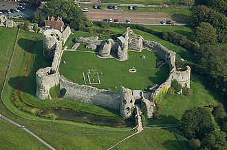 Joan of Navarre, Queen of England - Image: Pevensey Castle from the West