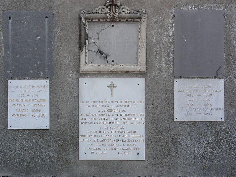 Pexonne (M-et-M) église, plaques memorials de guerre
