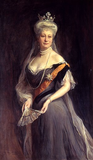 Order of the Black Eagle - Empress Auguste Viktoria, wearing the sash and star of the Order of the Black Eagle. Portrait by Philip de Laszlo