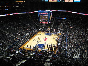 Philips Arena - Philips Arena prior to a Hawks game vs the Phoenix Suns