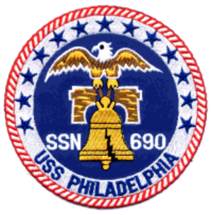 USS Philadelphia (SSN-690) - Image: Phillylogo