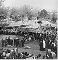 Photograph of mourners gathered at Arlington National Cemetery to witness burial services for the late President John... - NARA - 200450.jpg