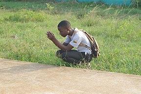 Photographe au photowalk Wiki loves africa 2019 au Bénin.jpg
