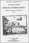 Anúncio da descoberta de Ceres por Piazzi.