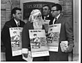 Picketers, one wearing a Santa Claus costume, accuse Sears Roebuck of being anti-union, December 15, 1966. (5279693676).jpg