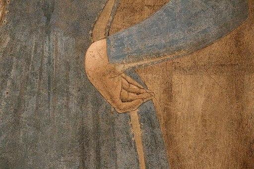 Piero della francesca, Madonna del Parto, 1455 ca., dettaglio della mano sinistra