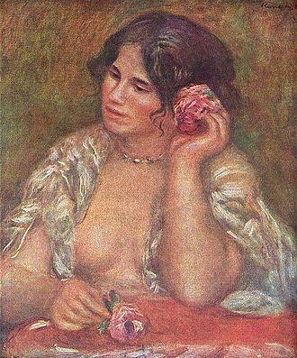 Gabrielle Renard - Gabrielle with Rose, Pierre-Auguste Renoir, 1911.