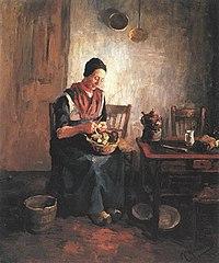 Piet Mondriaan - Aardappelschillende vrouw - A14 - Piet Mondrian, catalogue raisonné.jpg