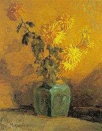 Piet Mondriaan - Yellow chrysanthemums in a ginger pot - A101 - Piet Mondrian, catalogue raisonné.jpg