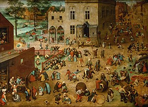 Educational toy - Children's Games, by Pieter Bruegel the Elder (1560)