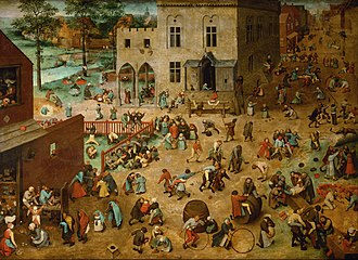 Game - Children's Games, 1560, Pieter Bruegel the Elder