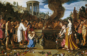 Pylades - Orestes and Pylades Disputing at the Altar, 1614 Pieter Lastman (1583–1633)