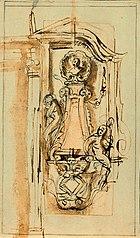 Preliminary sketch for a tomb in a niche