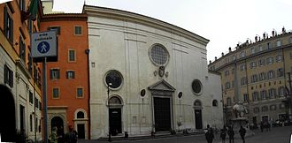 Piazza della Minerva - Looking towards the church