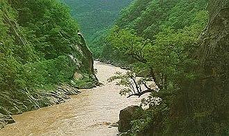 Sierra de la Plata - The Pilcomayo river at Tarija, Bolivia.