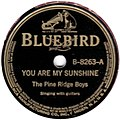 Pine Ridge Boys - You Are My Sunshine 78 (Bluebird).jpg