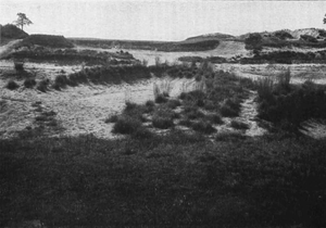 Pine Valley Golf Club - The second hole in 1921, featuring a carry over wasteland to the green.