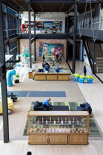 Pixar - The atrium of the Pixar campus