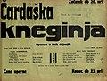Plakat za predstavo Čardaška kneginja v Narodnem gledališču v Mariboru 22. februarja 1931.jpg