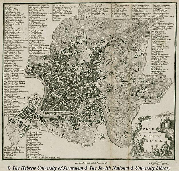 John Stockdale  Nuova Pianta di Roma 1800