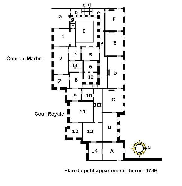 Fichier:Plan du petit appartement du roi 1789.jpg