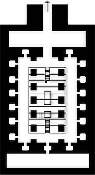 Osireion - Plan of the Osirion at Abydos