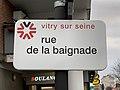Plaque Rue Baignade - Vitry-sur-Seine (FR94) - 2021-01-19 - 1.jpg