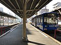 Platform of Ebisucho Station and tramcar for Abikomichi Station.jpg