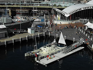 <i>Plastiki</i> Boat made of plastic