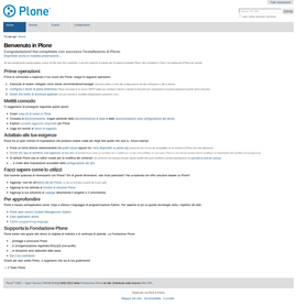 Screenshot di Plone