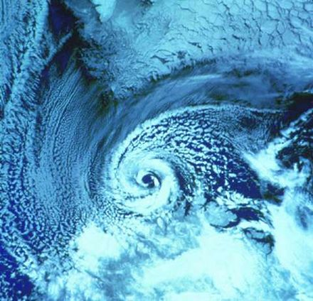 A polar low over the Barents Sea in February 1987 Polar low.jpg