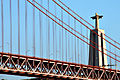 Ponte 25 de Abril (25th of April Bridge), The Cristo-Rei statue (side view). Lisbon, Portugal, Southwestern Europe.jpg